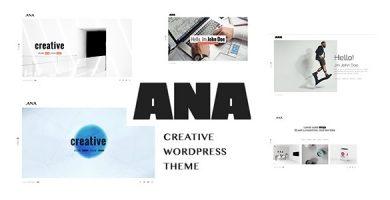 Ana - قالب وردپرس نمونه کار خلاقانه