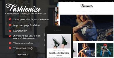 قالب Fashionize - قالب وبلاگ وردپرس ریسپانسیو