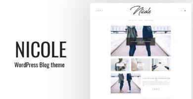 قالب Nicole - قالب وبلاگی ساده وردپرس
