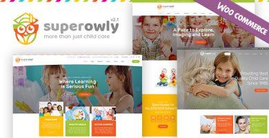 قالب SuperOwly - قالب وردپرس کودک و نوجوان