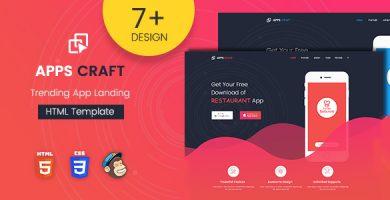 Apps Craft - قالب وردپرس صفحه فرود اپلیکیشن