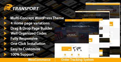 Transport & Logistics - قالب وردپرس