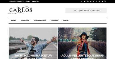 قالب Carlos - قالب مجله و وبلاگ وردپرس