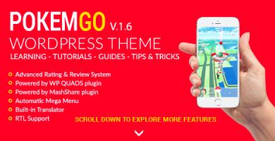 قالب Pokemgo - قالب وردپرس سیستم آموزشی