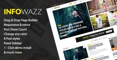 قالب InfoWazz - قالب وردپرس برای وبلاگ، مجله و روزنامه