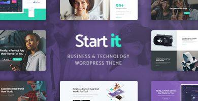 قالب Start It - پوسته وردپرس تکنولوژی و استارتاپ