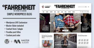 قالب Fahrenheit - قالب وردپرس سایت شخصی