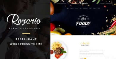 قالب Rozario - قالب وردپرس رستوران و غذا