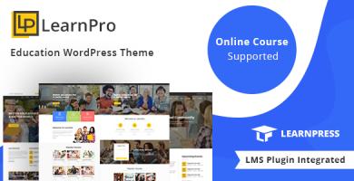 LearnPro - قالب وردپرس آموزشی