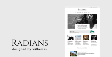 قالب Radians - قالب وردپرس مجله ای مدرن