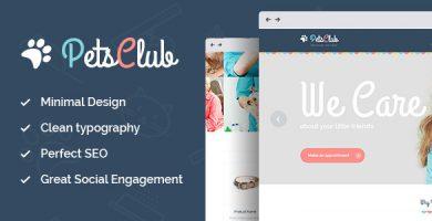 قالب Pets Club - قالب وردپرس محافظت، فروشگاه و دامپزشکی حیوانات خانگی