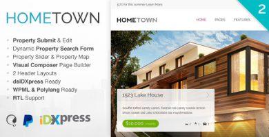 قالب هوم تاون | Hometown - قالب وردپرس املاک