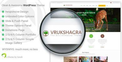 قالب Vrukshagra - قالب وردپرس محیط زیست