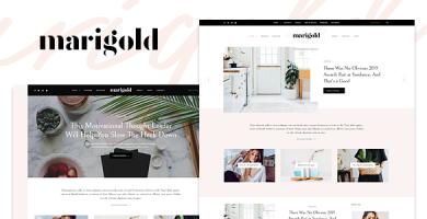 قالب Marigold - یک قالب وبلاگ و فروشگاه وردپرس
