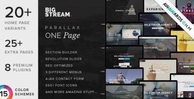 قالب BigStream - پوسته وردپرس تک صفحه چند منظوره