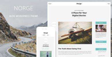قالب Norge - قالب وردپرس وبلاگی