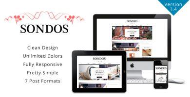 قالب Sondos - قالب وردپرس بلاگی ساده