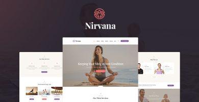 قالب Nirvana - قالب وردپرس یوگا و باشگاه تناسب اندام