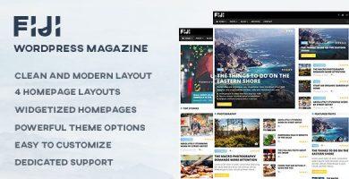 قالب Fiji - قالب مجله و وبلاگ وردپرس