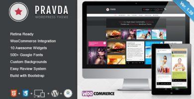 قالب Pravda - قالب وردپرس وبلاگ