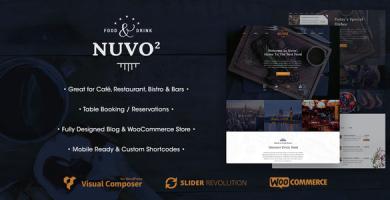 قالب NUVO2 - قالب وردپرس کافه و رستوران