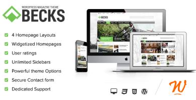 قالب Becks - قالب خبری و مجله ای وردپرس