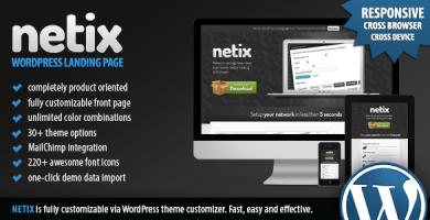 قالب Netix - صفحه فرود وردپرس