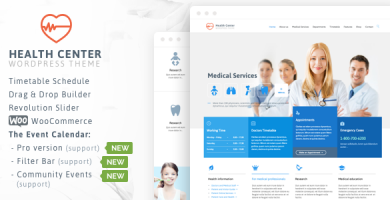 قالب Medical & Dentist - قالب وردپرس پزشکی