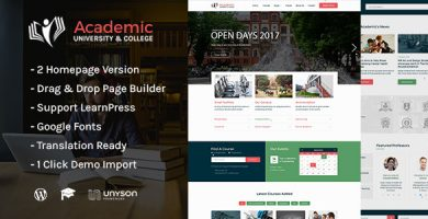 قالب Academic - قالب وردپرس آموزشی