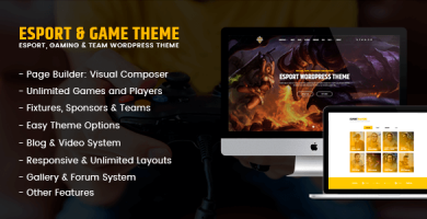 قالب eSport - قالب وردپرس بازی و گیمینگ