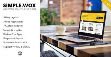 قالب SimpleWox - قالب وردپرس وبلاگ خلاقانه
