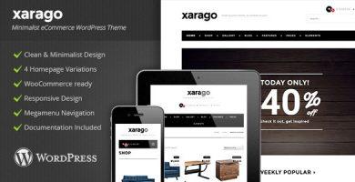 Xarago - قالب وردپرس فروشگاهی مینیمال