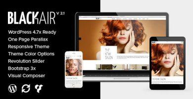 قالب Blackair - قالب وردپرس تک صفحه برای سالن زیبایی