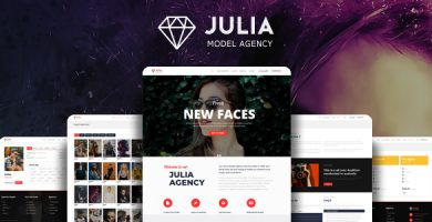 قالب Julia - قالب وردپرس مدیریت استعداد