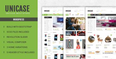 Unicase - قالب فروشگاه الکترونیک وردپرس
