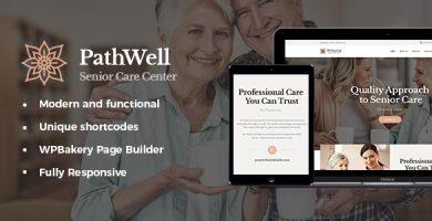 قالب PathWell - قالب وردپرس بیمارستان مراقبت از سالمندان