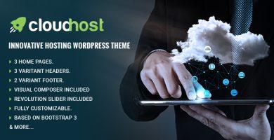 CloudHost - قالب وردپرس هاستینگ