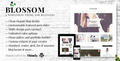 قالب Blossom - قالب وبلاگ وردپرس