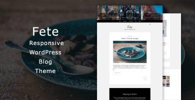 قالب Fete - قالب وبلاگ وردپرس ریسپانسیو
