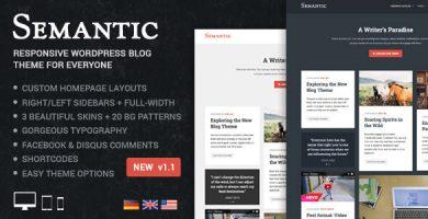 قالب Semantic - قالب وبلاگ وردپرس ساده و ریسپانسیو