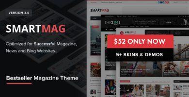 قالب SmartMag - قالب وردپرس مجله ای ریسپانسیو