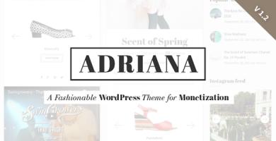 قالب Adriana - قالب وردپرس مد و زیبایی