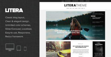 قالب Litera - قالب وبلاگ شخصی وردپرس