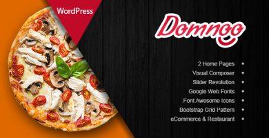 قالب Domnoo - قالب وردپرس پیزا و رستوران