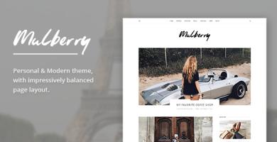 قالب Mulberry - قالب وبلاگ وردپرس مدرن