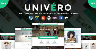 قالب Univero - قالب وردپرس آموزش مجازی و دوره ی آنلاین