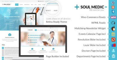 قالب SoulMedic Health - قالب وردپرس پزشکی و مراقبت های بهداشتی