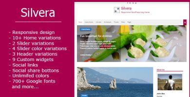 قالب Silvera - قالب وبلاگ وردپرس ریسپانسیو