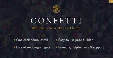 قالب Confetti - قالب وردپرس عروسی