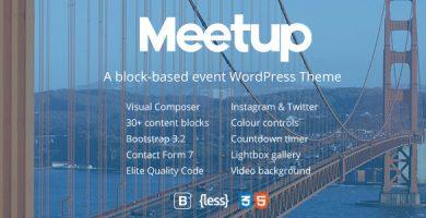 قالب Meetup - قالب وردپرس کنفرانس و رویداد